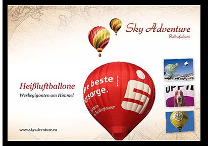 Heißluftballone - Werbegiganten am Himmel
